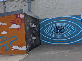 Kindness is Magic and Plains of Creativity Murals