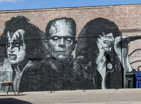 Artist at Large Tattoo Shop Mural