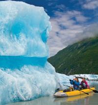 Kayakers in Valdez Glacier Lake