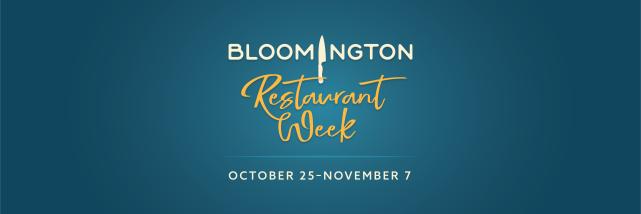 Bloomington Restaurant Week Header