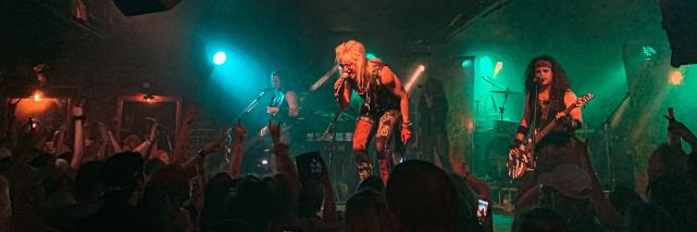 Hairbangers Ball performing at The Bluebird