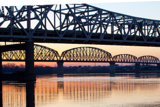 View of Kennedy Bridge and Big Four Bridges