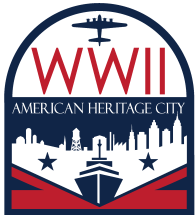 WWII American Heritage City Logo