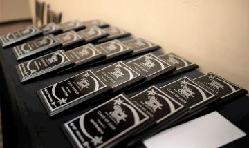 Class of 2020 Rising Stars plaques.