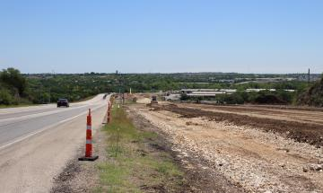 Loop 337 expansion progress at Landa Street