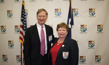 Lamar Smith and Past Chair Robin Jeffers