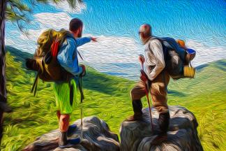 10 - Hikers Hiking