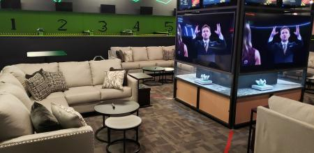Press Play Gaming Lounge family pods