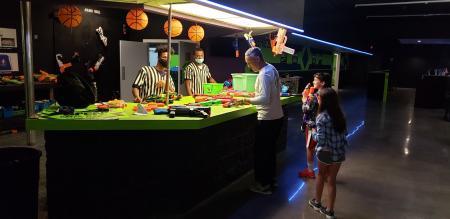 Press Play Gaming Lounge Foam Wars