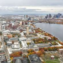 MIT Campus in Fall Aerial