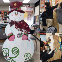 Elizabeth Avenue Partnership and the Elizabeth Public Schools Arts Department Create Holiday Display
