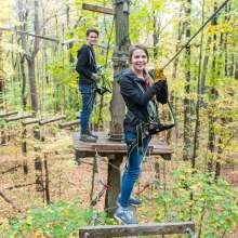 Zipline Canopy Tour & Aerial Adventure Park at Bristol Mountain