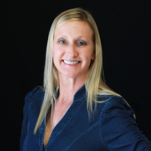 photo of sales director amy tarr Caucasian woman with long blond hair