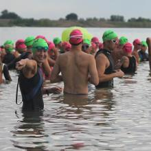Triathletes at Boulder Reservoir
