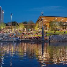 Promenade Park shines at night