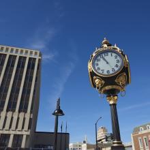 Winkler's Clock Downtown Kansas City, KS
