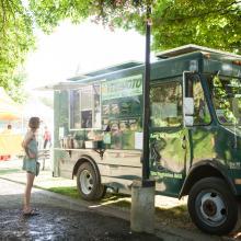 Vegimoto Food Truck at Cuthbert Amphitheater by Eugene, Cascades & Coast