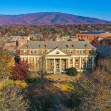 Aerial Fall Color - Roanoke College