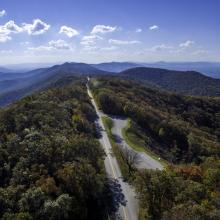 Blue Ridge Parkway Aerial View