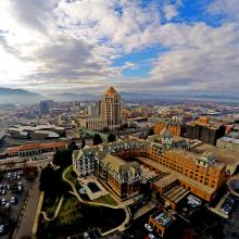Downtown Roanoke Aerial