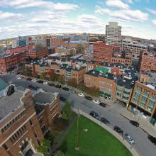 Bird's eye view of Armory Square