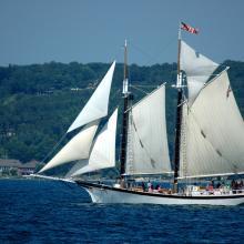 Tall Ship In Traverse City Sailing