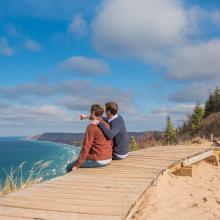 Couple at Sleeping Bear Dunes