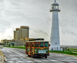 Biloxi Lighthouse & Trolley