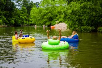 Tubing with Louisiana River Adventures