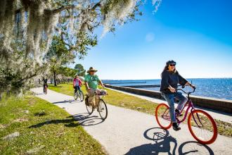 Biking the Mandeville Lakefront