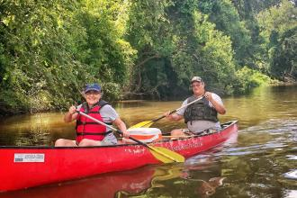 Canoe and Trail Adventures, bogue falaya, canoe