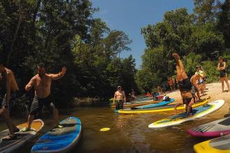 Paddleboarding with Bayou Paddle Company
