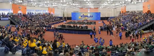 Cheer competition at University Arenas at RIT