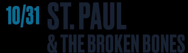 St. Paul & the Broken Bones October 31