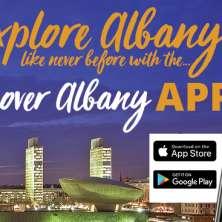 Discover Albany App header