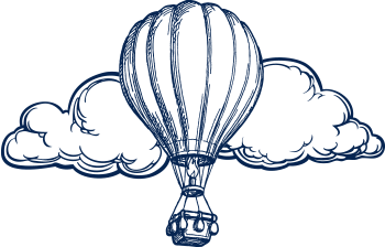 icon Balloon & Clouds blue-white