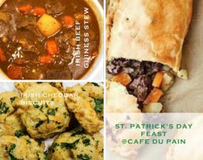 Cafe Du Pain Bakery st patricks dfay feast