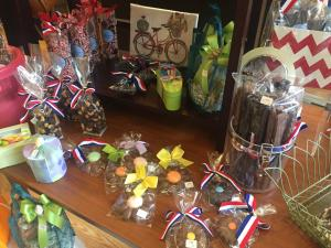 A display of handmade treats sit on display at Brittle Bark in Mechanicsburg.