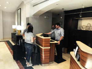 Guest Check In at Courtyard