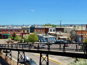 A View of Downtown Laramie from the Pedestrian Footbridge