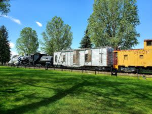 A train on Display at Heritage Park