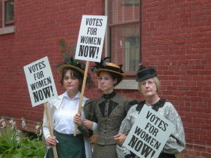 Suffragettes at GCV&M