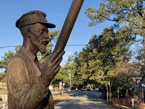 Statue Of Richard Etheridge On Pea Island, NC