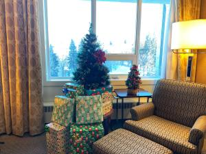 Christmas Tree in Sheraton guest room