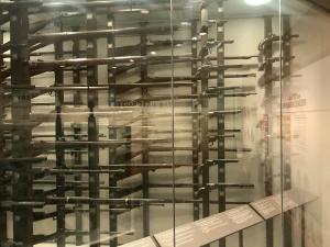 Weapons display at Wilson's Creek National Battlefield