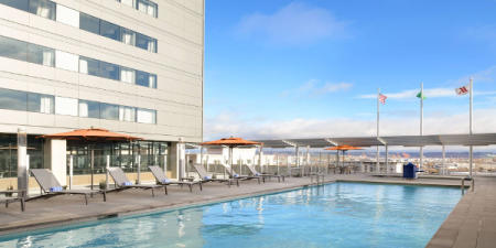 Rooftop pool at the Marriott Tacoma Downtown