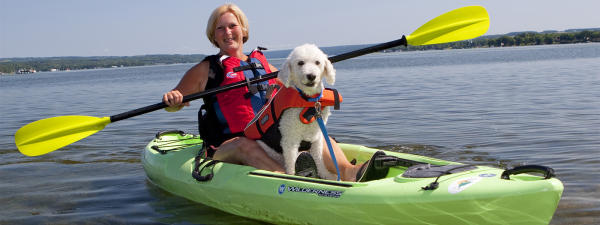 Dog friendly at Owasco Paddles