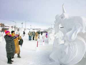 Fur Rondy Snow Sculptures