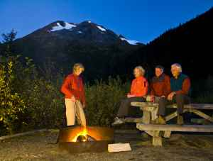 Camping in the Chugach mountains