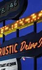 Sign for Rustic Drive-In movie theater in North Smithfield, Rhode Island